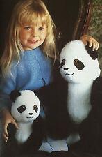 Sewing pattern Jean Greenhowe Mother & Baby Panda Jouet 34 cm Tall doll Bear Rare