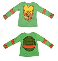 Toddler Teenage Mutant Ninja Turtles Long Sleeve Green T-Shirt Tee & Eye Mask