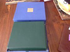 Eli Bleu Cigar travel humidor.  Green leather in box,