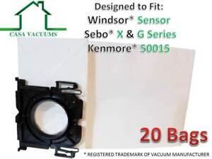 Casa Vacuums Windsor Sensor & Versamatic-Plus Vacuum Bags Also Sebo (20 Pack)