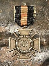 WW2 German Hindenburg Cross Award with swords. Original.