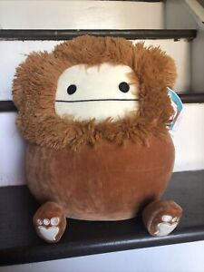 "Benny Bigfoot 12"" Squishmallow Plush -NWT KellyToy Stuffed Animal- Rare!"
