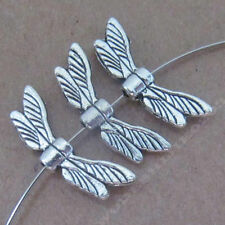 50x Tibetan Silver Dragonfly wings Spacer Beads Jewellery Findings Craft /235