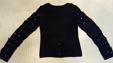 NWOT Moschino 6 Black Sweater Cardigan Dressy Holiday Floral