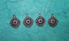 Pendant Filigree Charm Charm Art Deco Earring Charm Jewelry Making Finding Charm