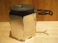 Combined Windscreen and Pot Rest for alcohol stove to fit Primus Alutech 1l