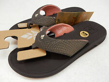 REEF WOMENS SANDALS ROVER BROWN CORAL SIZE 8