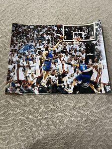 Autographed Dirk Nowitzki Signed 16x20 Photo Dallas Mavericks Fanatics NBA