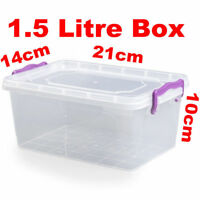 1.5 litre Large Microwave Freezer Resistant Clip and Close Food Container