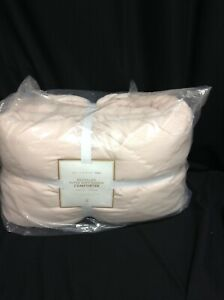 Pottery Barn PB Teen Super Soft Recycled Bed Comforter Cover Quilt Twin XL Blush
