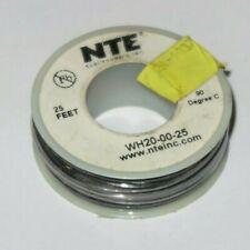 NTE WH20-00-25 Hook Up Wire 300V Stranded Type 20 Gauge 25 FT BLACK & Others-New