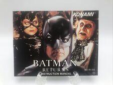Batman Returns Nintendo NES **Manual Only**Original Authentic *No Game*