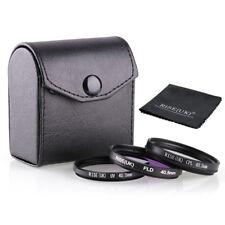 40.5mm Filter kit UV CPL FLD For Nikon Canon Sony Camera Lens +gift