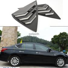 For 2012-2019 Nissan Sentra Matte black Rear Triangle Shark Shutters Skull Frame
