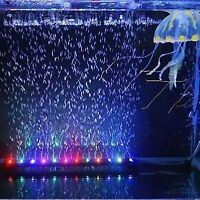 """Color Changing LED for 16"""" Aquarium Tank Underwater Submersible Air Bubble Light"""