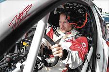 Jacques Villeneuve SIGNED World Rallycross Portrait Peugoet 208  2014