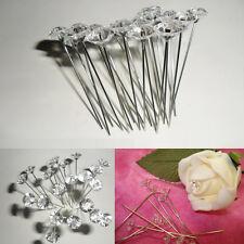 "100X Diamante 2"" Diamonte Pins Wedding Buttonholes Bouquet Florist Work Flower"