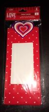 "Valentine Cookie or Treat Bags Boxes with Window Set 6 NIP 9.6"" X 4.2"" X 2.5"""