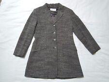 SPORTMAX by MAX MARA TWEED WOOL BLEND COAT uk 12-14 i 44 d 40 us 10  M-L jacket