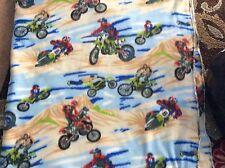 """Fleece Fabric Motocross motorcycle Dirt motor bike 60"""" w, sold BTY"""