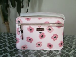 NWT Kate Spade Saffiano Shore Street Floating Poppies Tinie Wristlet Pink Multi