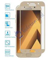 Protector de Pantalla Cristal Templado Curvo para Samsung Galaxy A5 2017 Dorado