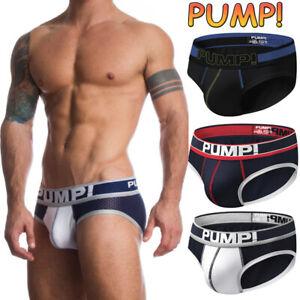 Mens Boxershorts Sport Briefs Cotton Athletic Support Underwear Underpants 1/3PC