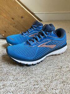 Women's Brooks Ghost 12 Trainers/Shoes Blue/Peach UK Sz. 6.5