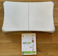 Nintendo Wii Balance Board Bundle with Wii Fit Game TESTED WORKING