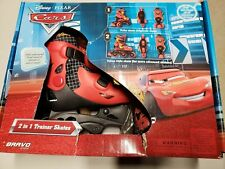 2-in-1 Trainer Skates (Cars) Size Jg-J9