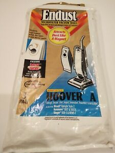 Hoover Type A Endust Microfilter Dust Seal Vacuum Cleaning Bags 3 Pack Open Bag