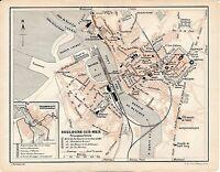 62 Boulogne 1907 pt. plan ville orig + guide (12 p.) Gare Maritime Gayote Casino