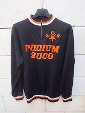 VINTAGE Maillot / Sweat cycliste E.C.E Podium 2000 année 70 jersey shirt Noret M