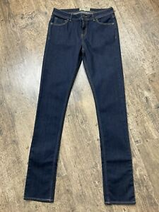 Fat Face Slim Fit Dark Blue Skinny Jeans With Strecth Uk 8 R Vgc #A