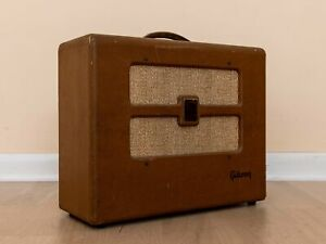 1951 Gibson BR-6 Vintage 1x10 Tube Amp w/ Rola Field Coil & RCA Tubes, Serviced
