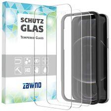 3x Panzerfolie iPhone 12 Mini Pro Max INSTALLATIONSRAHMEN Display Schutzglas 9H