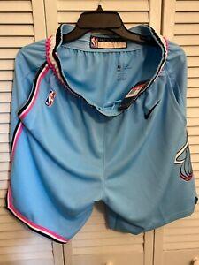 Miami Heat  MIAMI VICE Wave Nike Swingman City Size Large RARE City Shorts
