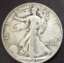 1941-S Liberty Walking Silver Half Dollar U.S. Coin A3871