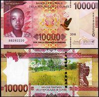 Guinea 10000 10.000 Francs, 2018 (2019) , UNC , P-New , New Design , Prefix BB
