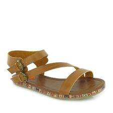 Womens_uk 3_rocket dog_tailspin Coronado tan_strappy sandalias de gladiador