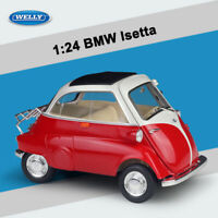 Toy Vehicles Welly 1:24 Scale Red BMW Isetta Diecast Alloy Car Model New in Box
