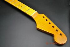 #4 New One Piece Flame Maple Guitar Neck Vintage Tint Fits Strat Stratocaster #4