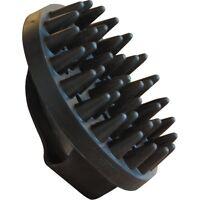ELDORADO Gumminoppenstriegel - schwarz Striegel mit Noppen für Pferde Pflege