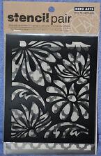 Hero Arts Stencil Pair:  Pack of 2 stencils:  Petals SA049
