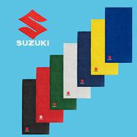 Suzuki Serviette de Bain 50x100 COTON BRODE Logo Moto Voiture Mains Doux Douche