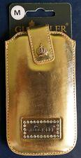 GLÖÖCKLER Tasche PRESTIGE Size M für iPhone 4 4S 5 5C 5S Saffiano Lether Gold
