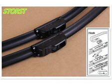 2PCS STORST 21+18 INCH J-HOOK BRACKETLESS WINDSHIELD WIPER BLADES