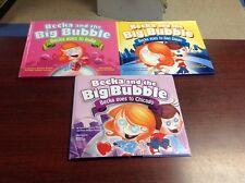 Lot of 3 BECKA AND THE BIG BUBBLE books Goes to India CHICAGO San Diego