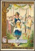 Italy Carnival Trivellina Costume c1892 Trade Ad Card