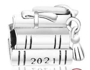 2021 GRADUATION CHARM BOOKS GENUINE 925 STERLING SILVER GIFT 💜💛💜